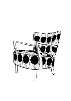 Retro Vintage 50s Armchair